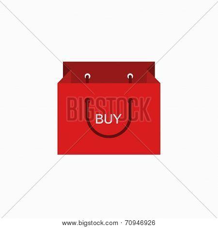 vector modern shopping buy icon on white