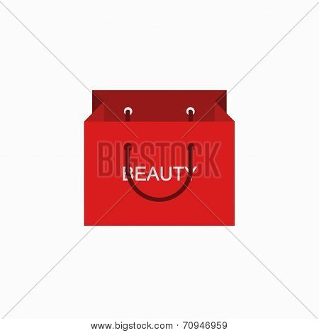 vector modern shopping beauty icon on white