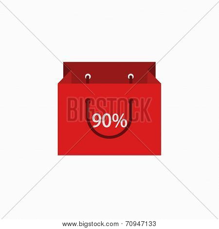 vector modern shopping icon on white background.