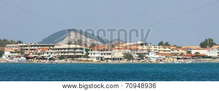 View Of Laganas Coast On Zakynthos