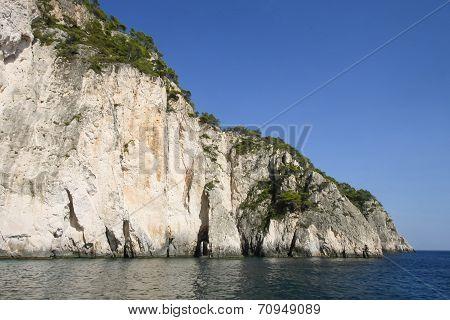 Rocky Coast Of Zakynthos Island