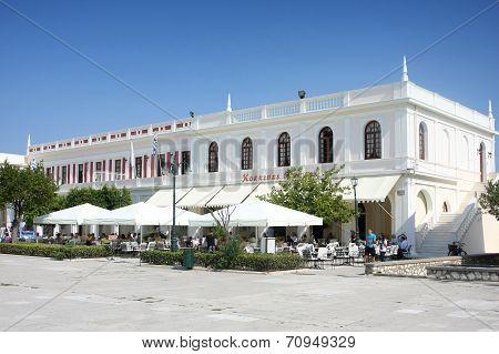 Solomos Square In Zante Town On Zakynthos Island