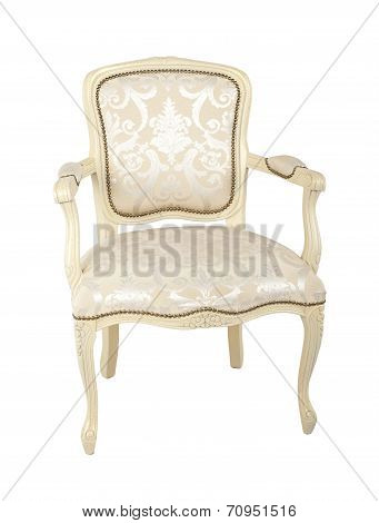 Luxury armchair isolated on white