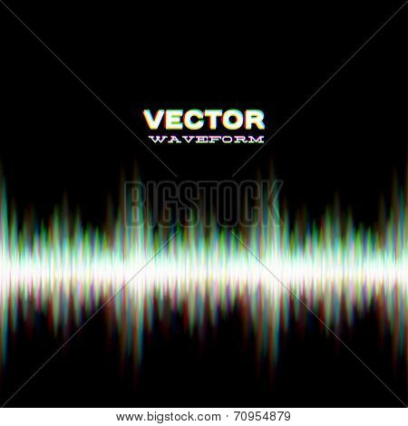 Shiny sound waveform