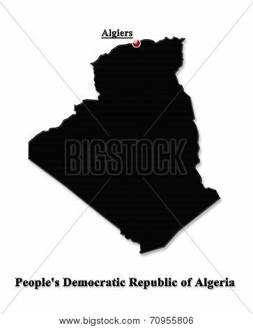 Map Of Algeria In English