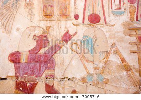 Osiris and Seti wall painting