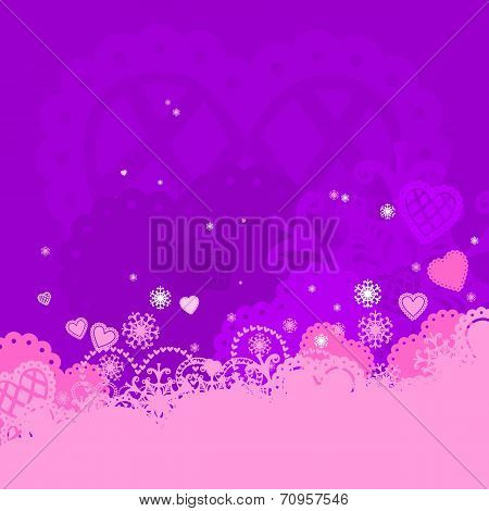 vector background of Valentine's day.