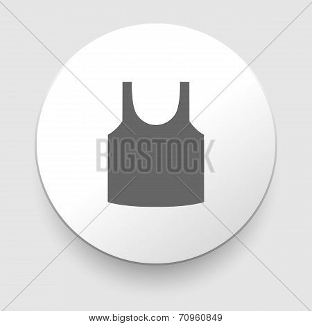 Singlet sleeveless shirt vector icon