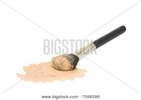 Round Black Brush Isolated