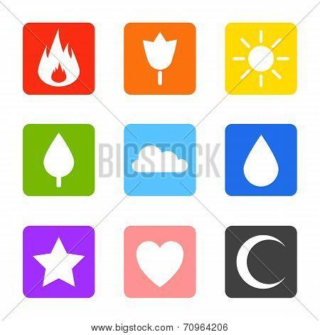 Random abstract icons set.