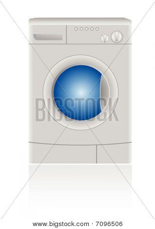 Ilustração em vetor isolada de uma máquina de lavar roupa