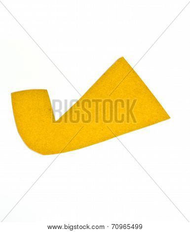 Checkmark  Tag Recycled Paper On White Background
