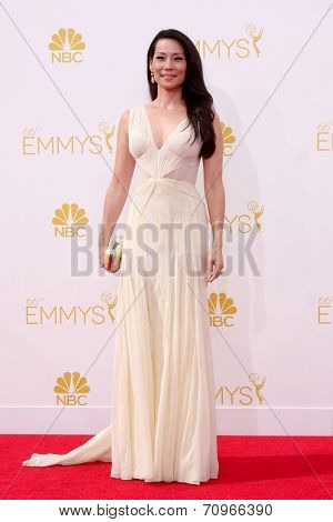 vLOS ANGELES - AUG 25:  Lucy Liu at the 2014 Primetime Emmy Awards - Arrivals at Nokia at LA Live on August 25, 2014 in Los Angeles, CA