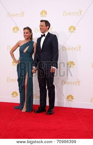 LOS ANGELES - AUG 25:  Seth Meyers at the 2014 Primetime Emmy Awards - Arrivals at Nokia at LA Live on August 25, 2014 in Los Angeles, CA