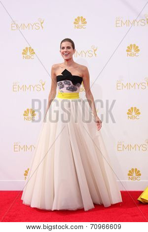 vLOS ANGELES - AUG 25:  Allison Williams at the 2014 Primetime Emmy Awards - Arrivals at Nokia at LA Live on August 25, 2014 in Los Angeles, CA
