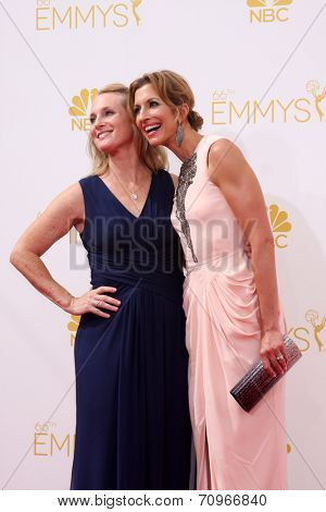 LOS ANGELES - AUG 25:  Piper Kerman, Alysia Reiner at the 2014 Primetime Emmy Awards - Arrivals at Nokia at LA Live on August 25, 2014 in Los Angeles, CA