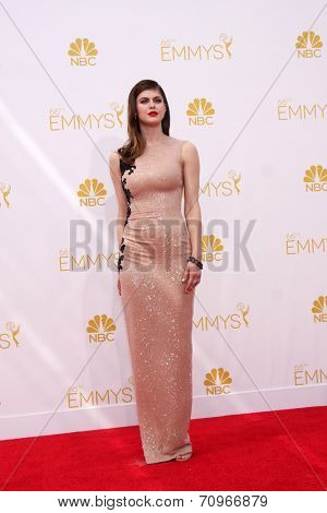 vLOS ANGELES - AUG 25:  Alexandra Daddario at the 2014 Primetime Emmy Awards - Arrivals at Nokia at LA Live on August 25, 2014 in Los Angeles, CA