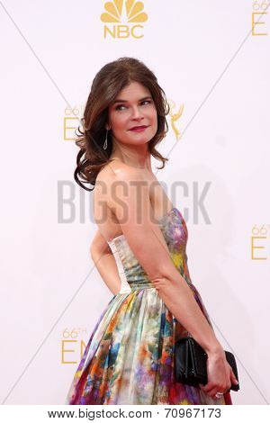 vLOS ANGELES - AUG 25:  Betsy Brandt at the 2014 Primetime Emmy Awards - Arrivals at Nokia at LA Live on August 25, 2014 in Los Angeles, CA