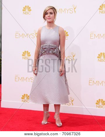 LOS ANGELES - AUG 25:  Kiernan Shipka at the 2014 Primetime Emmy Awards - Arrivals at Nokia at LA Live on August 25, 2014 in Los Angeles, CA