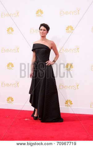 LOS ANGELES - AUG 25:  Lena Headey at the 2014 Primetime Emmy Awards - Arrivals at Nokia at LA Live on August 25, 2014 in Los Angeles, CA