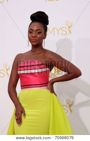 LOS ANGELES - AUG 25:  Teyonah Parris at the 2014 Primetime Emmy Awards - Arrivals at Nokia at LA Live on August 25, 2014 in Los Angeles, CA