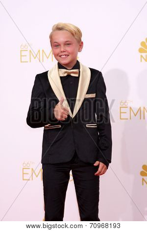 vLOS ANGELES - AUG 25:  Mason Vale Cotton at the 2014 Primetime Emmy Awards - Arrivals at Nokia at LA Live on August 25, 2014 in Los Angeles, CA