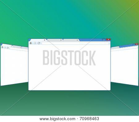 Blank window of internet browser