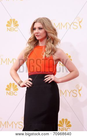 vLOS ANGELES - AUG 25:  Natalie Dormer at the 2014 Primetime Emmy Awards - Arrivals at Nokia at LA Live on August 25, 2014 in Los Angeles, CA