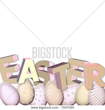 Easter On White
