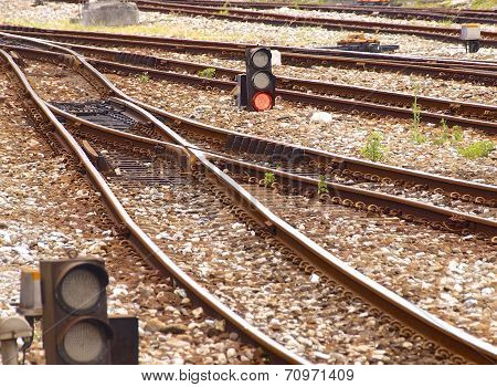 Details of train tracks