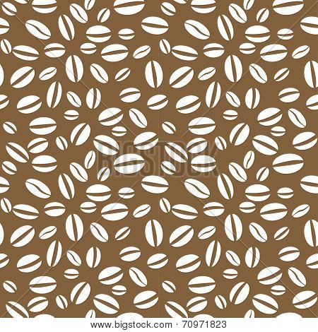 Vector coffee bean seamless repeating pattern