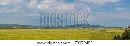 Panorama Of A Colorful Rural Farmland Scene