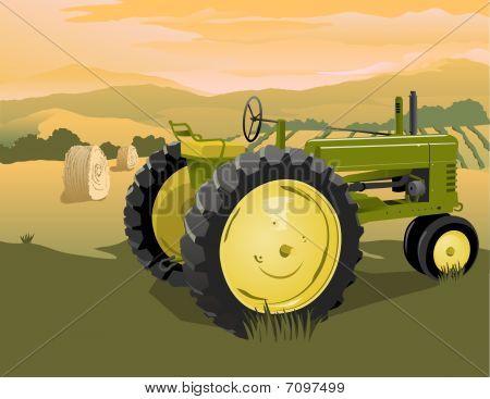 Farm Tractor Scene
