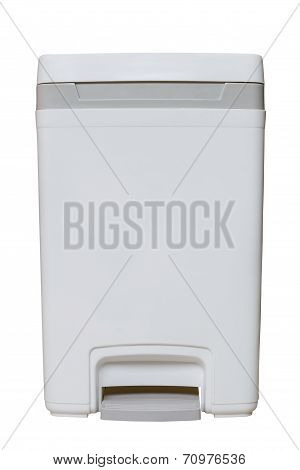 Isolated Small White Bin