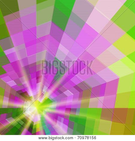 Abstract Quadrangle Colorful Shining Vector Background