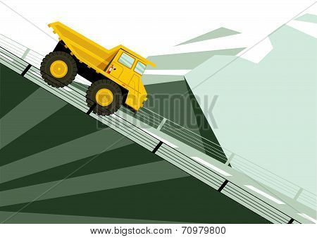 Landscape With Yellow Truck