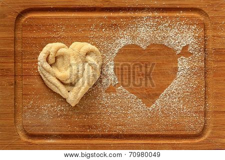 home maid cookie in the shape of a heart