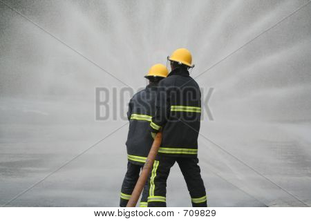 Firefighters Water Fan