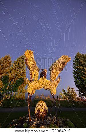 Eco-sculpture Soaring Cranes