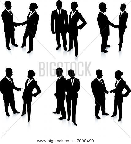 Business Team Silhouette Collection