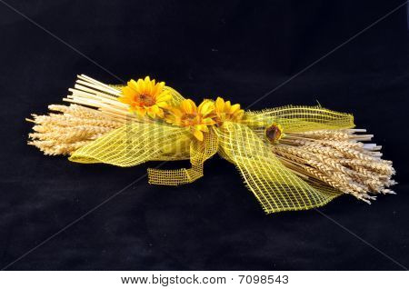 Wheat And Sunflowers