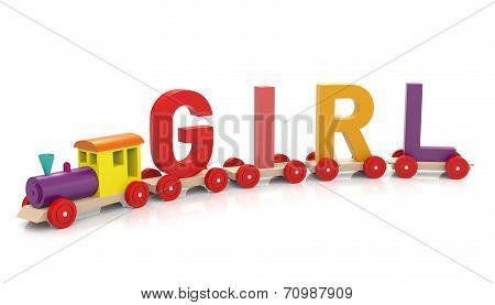 Toy Train & Girl