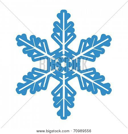 Illustration blue Snowflake isolated on white background. Vector.