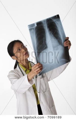 Doctor Reading X-ray