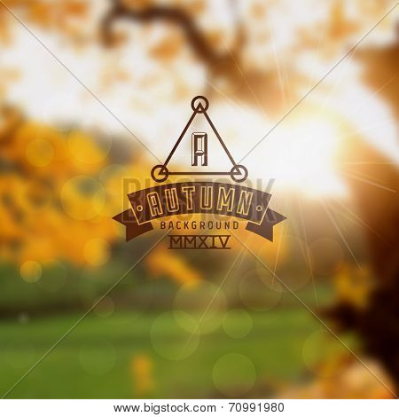 Autumn sun abstract vector background