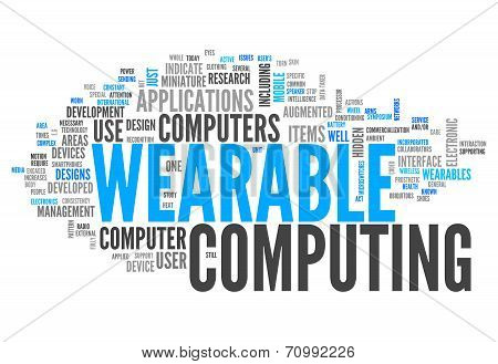 Word Cloud Wearable Computing