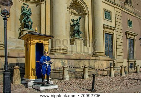 The Honor Guard at the Royal Palace in Stockholm