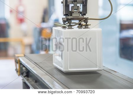Industrial Robot Working In Factory