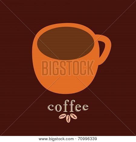 Coffee mug vector design template