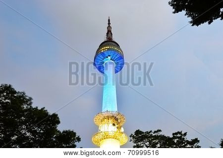 Namsan N Seoul Tower, Stands 480 Meters Above Sea Level